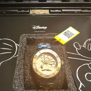 Women's Rare Disney Watch Gold Plated New